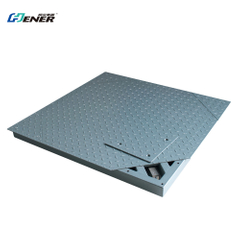 Single deck platform floor scale