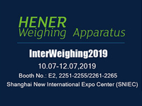 Welcome to attend Interweighing 2019. Hener is waiting for you!